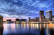 Skylines Photo Framed Prints - Ah Baltimore Framed Print by JC Findley