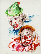 Circus. Paintings - Ah the joy of the Clowns by Mary Armstrong