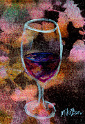 Chardonnay Mixed Media Framed Prints - Ahem a Toast Framed Print by Miko Zen