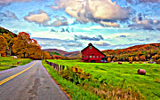 Bale Digital Art Metal Prints - Ah...West Virginia oil Metal Print by Steve Harrington