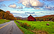 Red Barn Prints - Ah...West Virginia painted Print by Steve Harrington