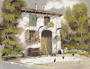 Chicken Paintings - Aia by Guido Borelli