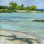 Stacy Vosberg Prints - Aiopio Beach Print by Stacy Vosberg