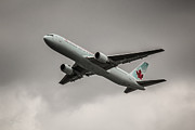 Rene Triay Photography Prints - Air Canada Boeing 767 Monochrome Print by Rene Triay Photography