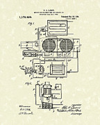 Air Drawings Prints - Air Conditioner 1916 Patent Art Print by Prior Art Design