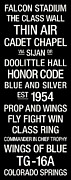 Mascot Metal Prints - Air Force College Town Wall Art Metal Print by Replay Photos