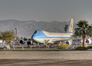 Air Force One Framed Prints - Air Force One in Palm Springs Framed Print by Matthew Bamberg