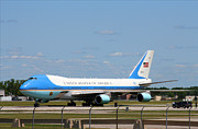 Air Force One South Bend Regional Airport August 2009 Print by Photographized Worldwide