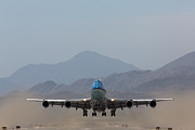 Palm Springs Airport Prints - Air Force One Takeoff Print by John Daly