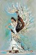 Spanish Dancing Painting Prints - Air Print by Karina Llergo Salto
