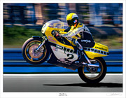Motorcycle Racing Framed Prints - Air Framed Print by Lar Matre