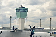 Traffic Control Photo Prints - Air Traffic Control Tower Print by Sami Sarkis