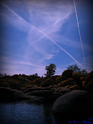 Watson Lake Photos - Air Traffic Over the Lake by Aaron Burrows