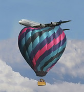Hot Air Balloons Digital Art - Air Travel by Alex Hardie
