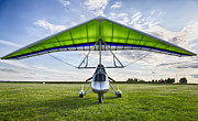 Airplane Photos Prints - Airborne XT-912 Microlight Trike Print by Adam Romanowicz