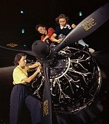 Installation Art Photos - Aircraft Engine Installation 1942 by Padre Art