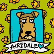 Airedale Love Print by Anne Leuck Feldhaus