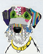 Pop Prints Mixed Media - Airedale Terrier by Michel  Keck