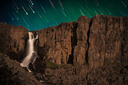 Copyright 2013 By Mike Berenson Photos - Airglow Star Trails Over North Clear Creek Falls by Mike Berenson