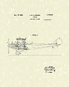 Gift Drawings Framed Prints - Airplane 1924 Patent Art  Framed Print by Prior Art Design