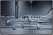 Airplane Photo Posters - Airplane black white photo picture HDR Plane Aircraft Selling Art Gallery New Photos Pictures Gift  Poster by Pictures HDR