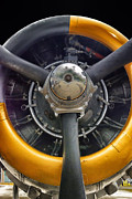 Passenger Plane Framed Prints - Airplane Engine Framed Print by Thomas Woolworth