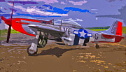 Ww Ii Framed Prints - Airplane P-51 Mustang Framed Print by Brian Mollenkopf