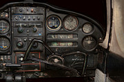 Controls Prints - Airplane - Piper PA-28 Cherokee Warrior - A warriors view Print by Mike Savad