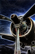 Airplane Prop Framed Prints - Airplane Prop Framed Print by Lee Dos Santos
