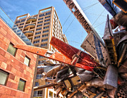Airplane Wreckage Sculpture Outside Museum Of Contemporary Art - 02 Print by Gregory Dyer