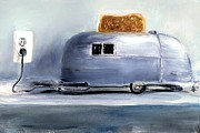 Camper Paintings - Airsteam Toaster by Sunny Avocado