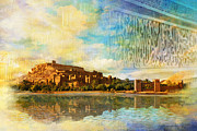 National Park Paintings - Ait Benhaddou  by Catf