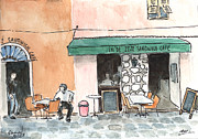 Sandwich Paintings - Ajaccio sandwich cafe by Michael Liebhaber
