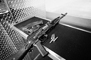 Practise Photos - AK47 assault rifle magazine and ammunition at a gun range in las vegas nevada usa by Joe Fox