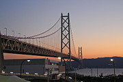 Kobe Photos - Akashi Kaikyo Bridge by Markus Hovikoski