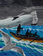 Seagull Drawings Originals - Akin to Moby Dick by Terry A White