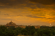 Delhi Metal Prints - Akshardham Temple Sunset Metal Print by Aaron S Bedell