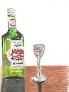 Spirits Glass Art - Akvavit by Deb Patterson