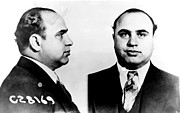 Black Posters - Al Capone Mug Shot Poster by Unknown