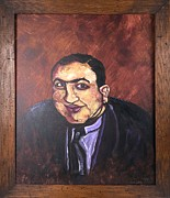 Batter Paintings - Al Capone Portrait by Jennifer Noren