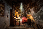 Intriguing Framed Prints - Al Capones Cell - Historical Ruins at Eastern State Penitentiary - Gary Heller Framed Print by Gary Heller