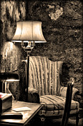 Mob Digital Art Prints - Al Capones Easy Chair - Eastern State Penitentiary Print by Bill Cannon