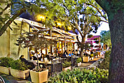 Italian Restaurant Prints - Al Fresco Dining  Print by Chuck Staley