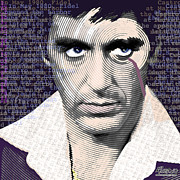 Celebrity Mixed Media Posters - Al Pacino Again Poster by Tony Rubino