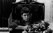 Al Pacino Photo Framed Prints - Al Pacino as Tony Montana Framed Print by Sanely Great
