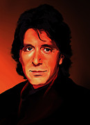Al Pacino Digital Art Framed Prints - Al Pacino Framed Print by Christian Simonian