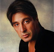 Al Pacino Digital Art Framed Prints - Al Pacino Framed Print by Hazel Billingsley