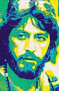 Al Pacino Mixed Media Framed Prints - Al Pacino in Serpico Framed Print by Art Cinema Gallery