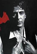 Francis Ford Coppola Framed Prints - Al Pacino  Framed Print by Luis Ludzska