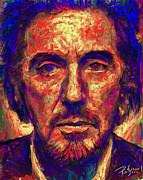 Al Pacino Digital Art Framed Prints - Al Pacino Framed Print by Roland Saldivar